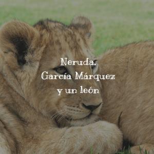 Neruda, García Márquez y un león