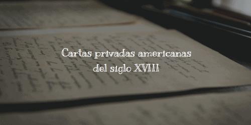 cartas del XVIII